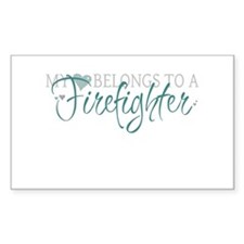 My Heart Belongs to a Firefig Decal