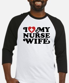 I Love My Nurse Wife Baseball Jersey