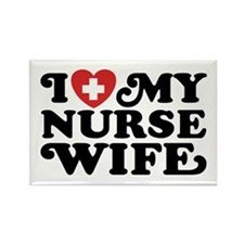 I Love My Nurse Wife Rectangle Magnet