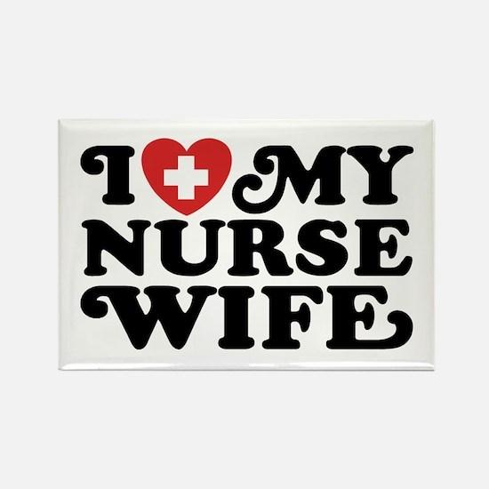 I Love My Nurse Wife Rectangle Magnet