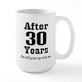 30 year anniversary Large Mugs (15 oz)
