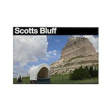 Scotts Bluff NM Rectangle Magnet