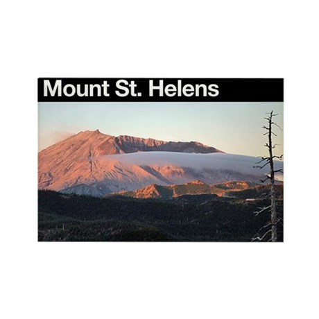 Mount St. Helens Rectangle Magnet