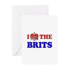 I Love The Brits Greeting Card