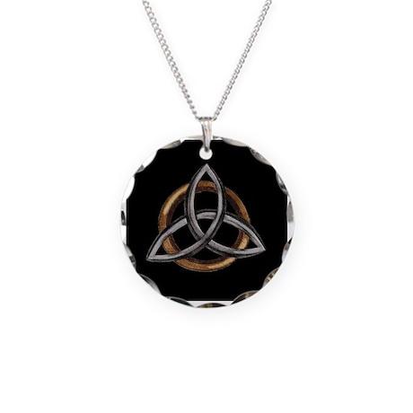 Triquetra Necklace Circle Charm