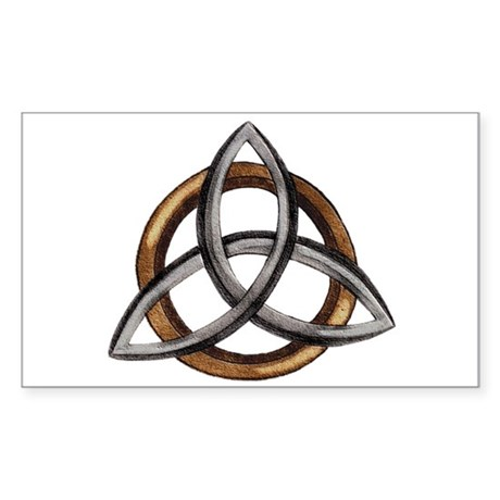 Triquetra Sticker (Rectangle)
