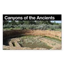 Canyons of the Ancients NM Rectangle Decal