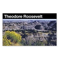 Theodore Roosevelt National Park Rectangle Decal