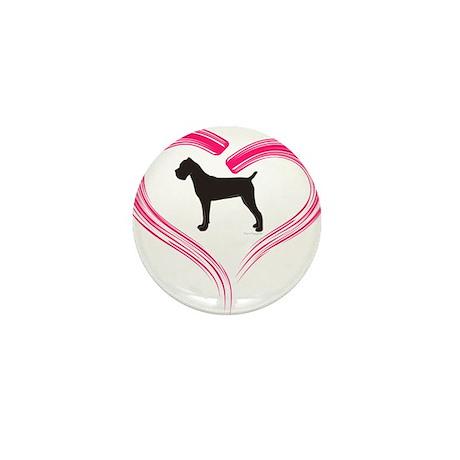 Cane Corso in Pink Heart Mini Button