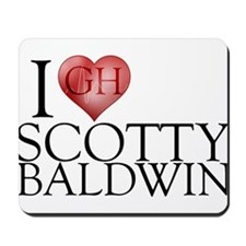 I Heart Scotty Baldwin Mousepad