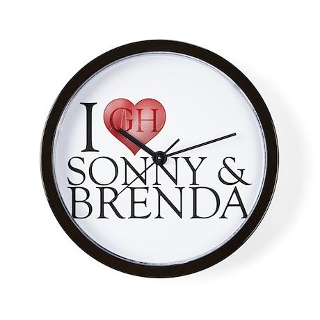 I Heart Sonny & Brenda Wall Clock