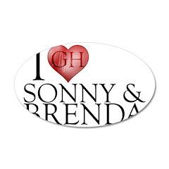 I Heart Sonny & Brenda 22x14 Oval Wall Peel