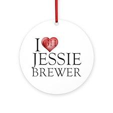 I Heart Jessie Brewer Round Ornament