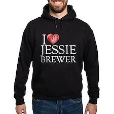 I Heart Jessie Brewer Hoodie (dark)