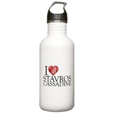 I Heart Stavros Cassadine Stainless Water Bottle 1