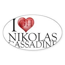 I Heart Nikolas Cassadine Sticker (Oval)