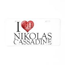 I Heart Nikolas Cassadine Aluminum License Plate