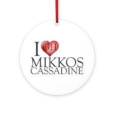 I Heart Mikkos Cassadine Round Ornament
