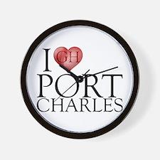 I Heart Port Charles Wall Clock