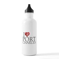 I Heart Port Charles Water Bottle