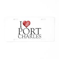 I Heart Port Charles Aluminum License Plate