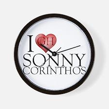 I Heart Sonny Corinthos Wall Clock