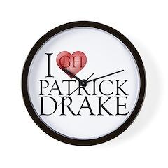 I Heart Patrick Drake Wall Clock