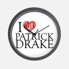 I Heart Patrick Drake Wall Clock