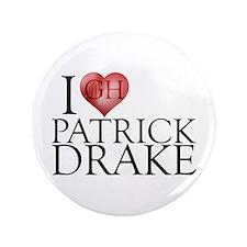 "I Heart Patrick Drake 3.5"" Button"