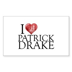 I Heart Patrick Drake Sticker (Rectangle 50 pk)