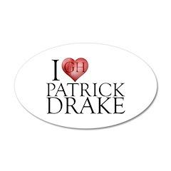 I Heart Patrick Drake 22x14 Oval Wall Peel
