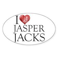 I Heart Jasper Jacks Sticker (Oval)