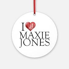 I Heart Maxie Jones Round Ornament