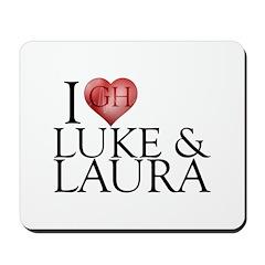 I Heart Luke & Laura Mousepad