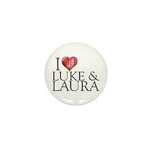 I Heart Luke & Laura Mini Button (10 pack)