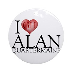 I Heart Alan Quartermaine Round Ornament