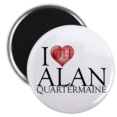 "I Heart Alan Quartermaine 2.25"" Magnet (10 pk)"