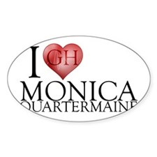 I Heart Monica Quartermaine Sticker (Oval)