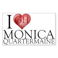 I Heart Monica Quartermaine Sticker (Rectangle 50