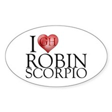 I Heart Robin Scorpio Sticker (Oval)
