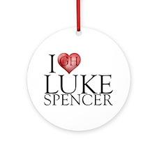 I Heart Luke Spencer Round Ornament