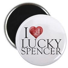 I Heart Lucky Spencer Magnet