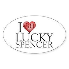 I Heart Lucky Spencer Decal
