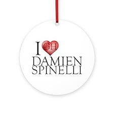 I Heart Damien Spinelli Round Ornament