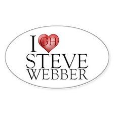 I Heart Steve Webber Sticker (Oval)
