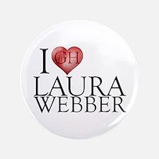 """I Heart Laura Webber 3.5"""" Button (100 pack)"""