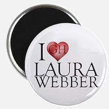 I Heart Laura Webber Magnet