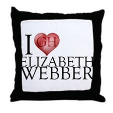I Heart Elizabeth Webber Throw Pillow