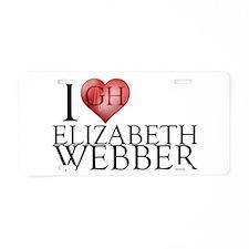 I Heart Elizabeth Webber Aluminum License Plate