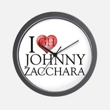 I Heart Johnny Zacchara Wall Clock